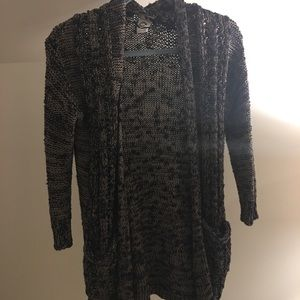 ANTHROPOLOGIE black and gold cardigan!